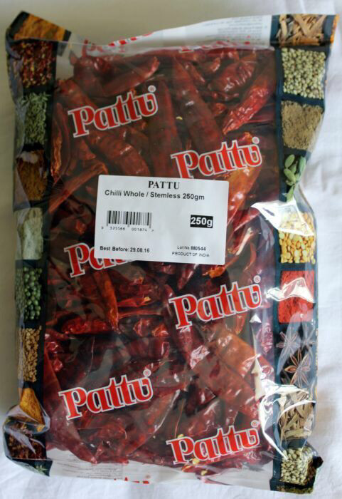 PATTU RED CHILLI WHOLE (Loose pack) 100 GMS