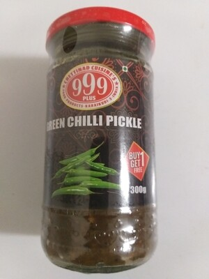 999 PLUS GREEN CHILLI PICKLE 300G