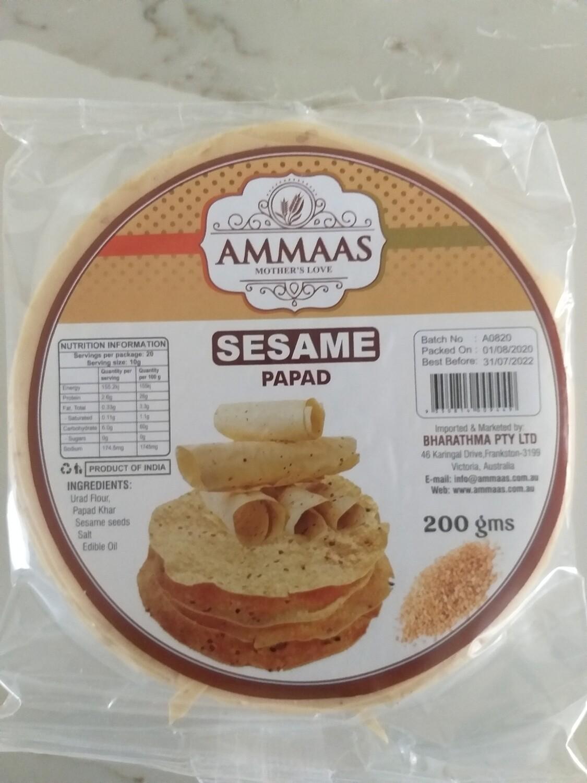 AMMA'S PAPAD SESAME 200 G