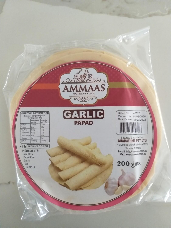AMMAS PAPAD GARLIC 200 G