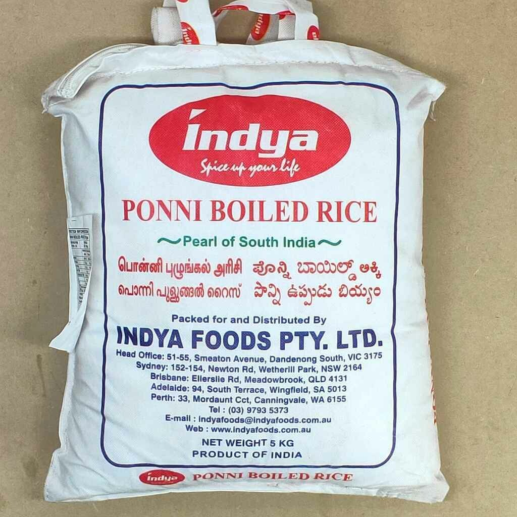 INDYA PONNI BOILED RICE 5 KG