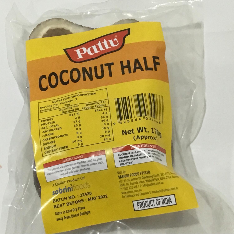 PATTU DRY COCONUT HALF 170 GMS(2 PIECES)
