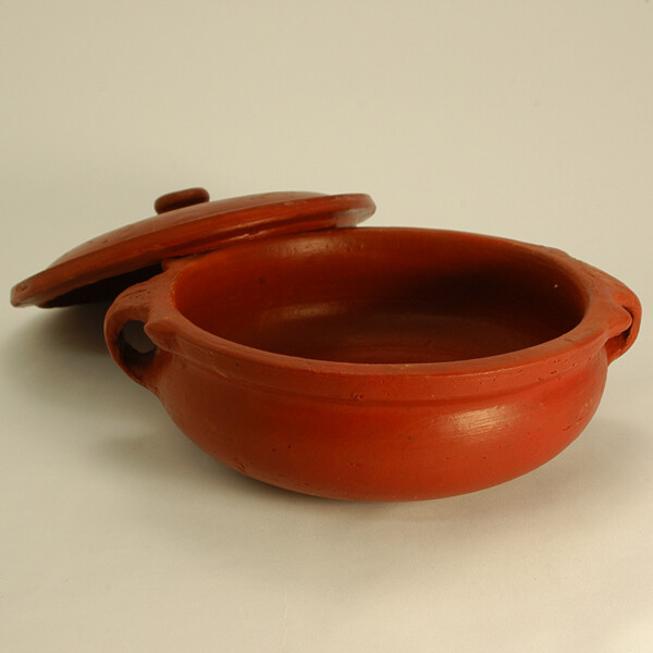 COOKING CLAY POT 8 INCH(WITH LID)/HANDI