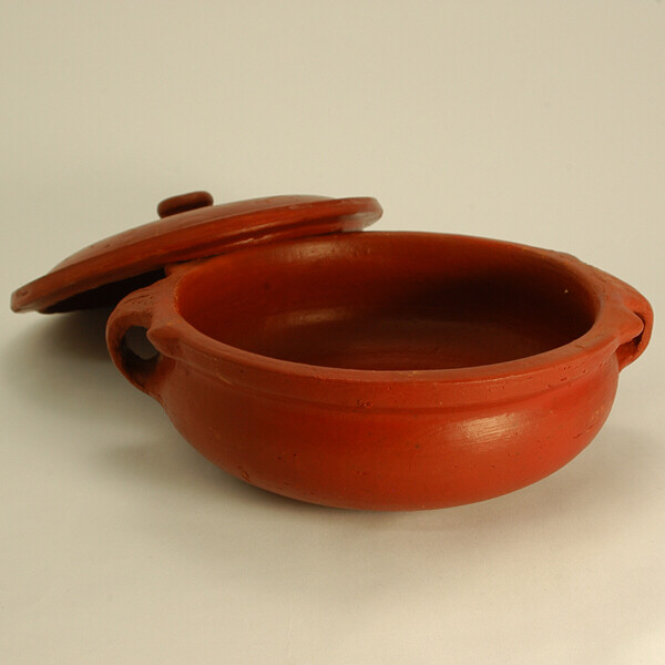 COOKING CLAY POT 12 INCH(WITH LID)/HANDI