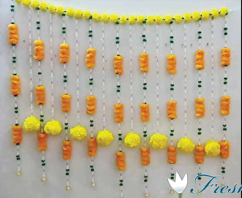 FLOWER BACKDROP ARTIFICIAL  FOR GANESH(APPROX 40 INCHES)