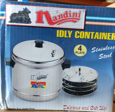 NANDINI IDLY COOKER 4 PLATES