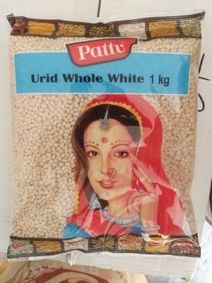 PATTU URID WHOLE WHITE 1KG