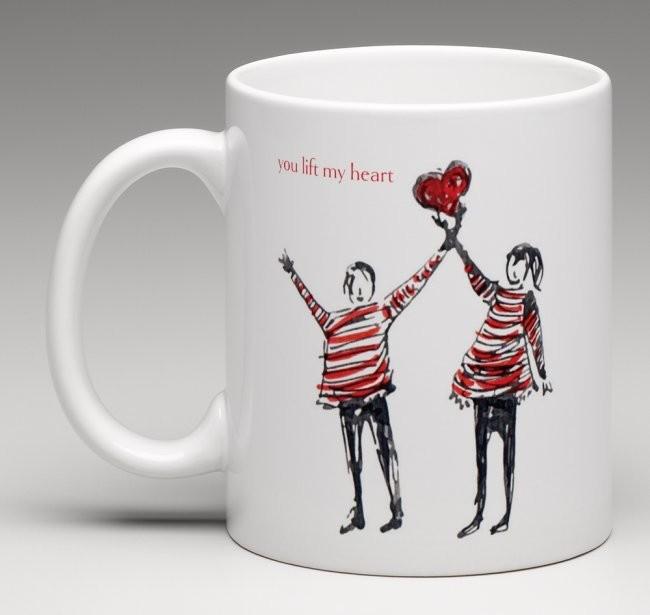 You lift my heart - china mug