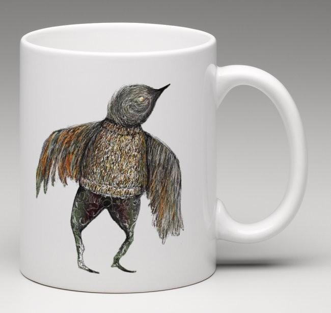 Winter Sparrow - china mug