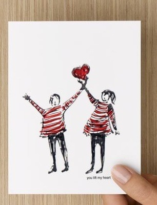 You lift my heart GREETING CARD