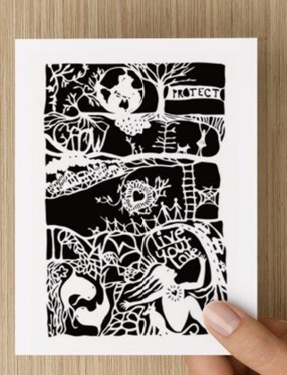 Live Your Love paper cutting