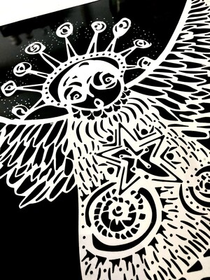 Spirit Owl paper cutting