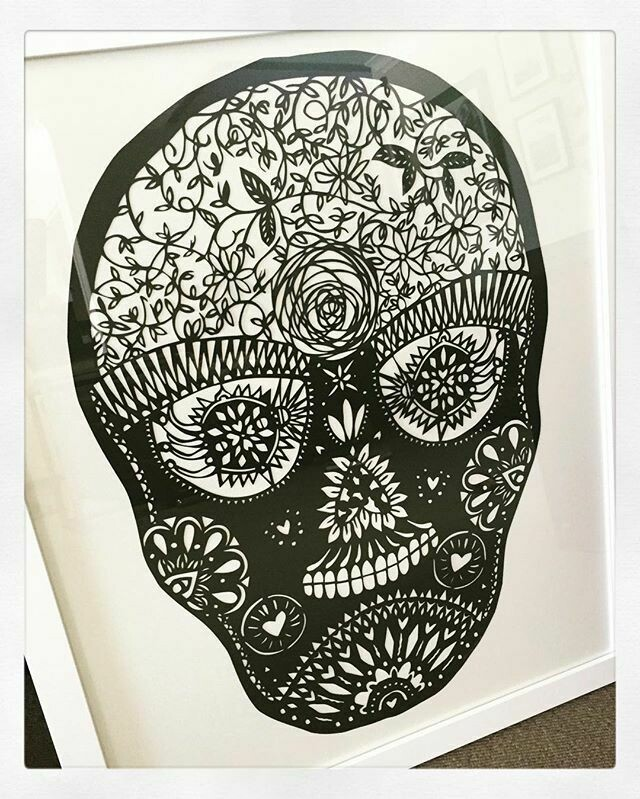 Sugar Skull  - paper cutting