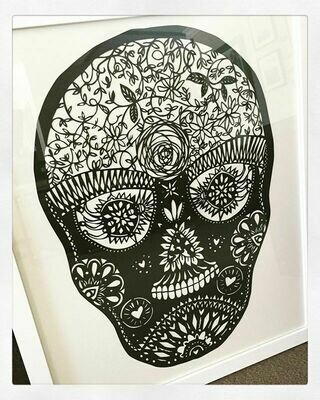 Sugar Skull  - paper cutting