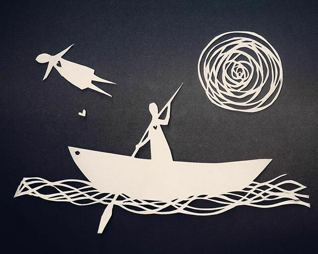 'He would follow her to the ends of earth'  GREETING CARD
