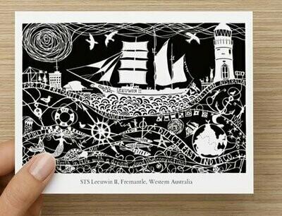 STS Leeuwin II  GREETING CARD