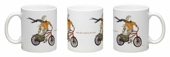 Wind in his hare - china mug