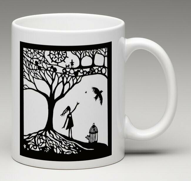 Hearts Fly Free - china mug