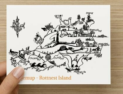 'Wadjemup' Rottnest Island GREETING CARD