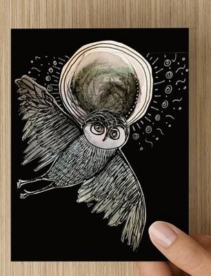 'Moon Owl' -  GREETING CARD
