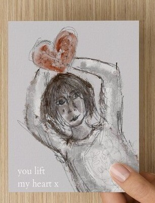'You lift my heart II' -  GREETING CARD