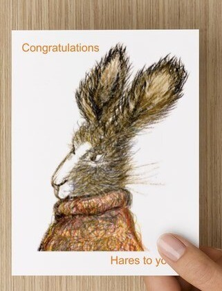 'Congratulations, Hares to You' -  GREETING CARD