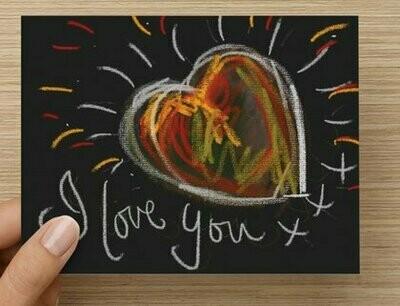'I Love You' -  GREETING CARD