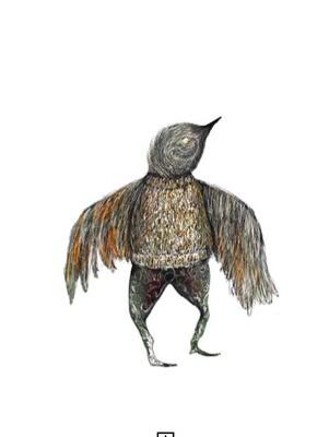 Winter Sparrow - archive PRINT