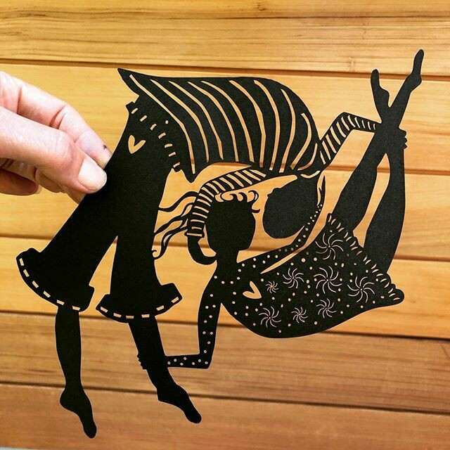 Head over Heels  - paper cutting