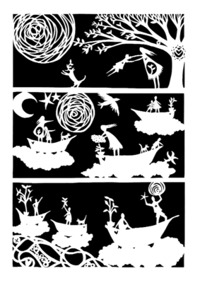 Sense of Wonder - growing boys- paper cutting