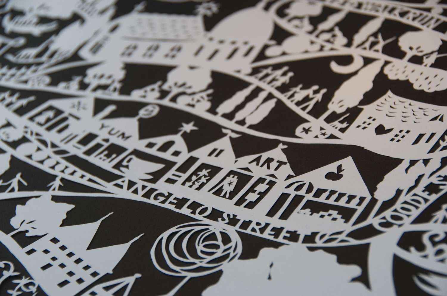 Paper Cutting Map Your Own Story - Private Class