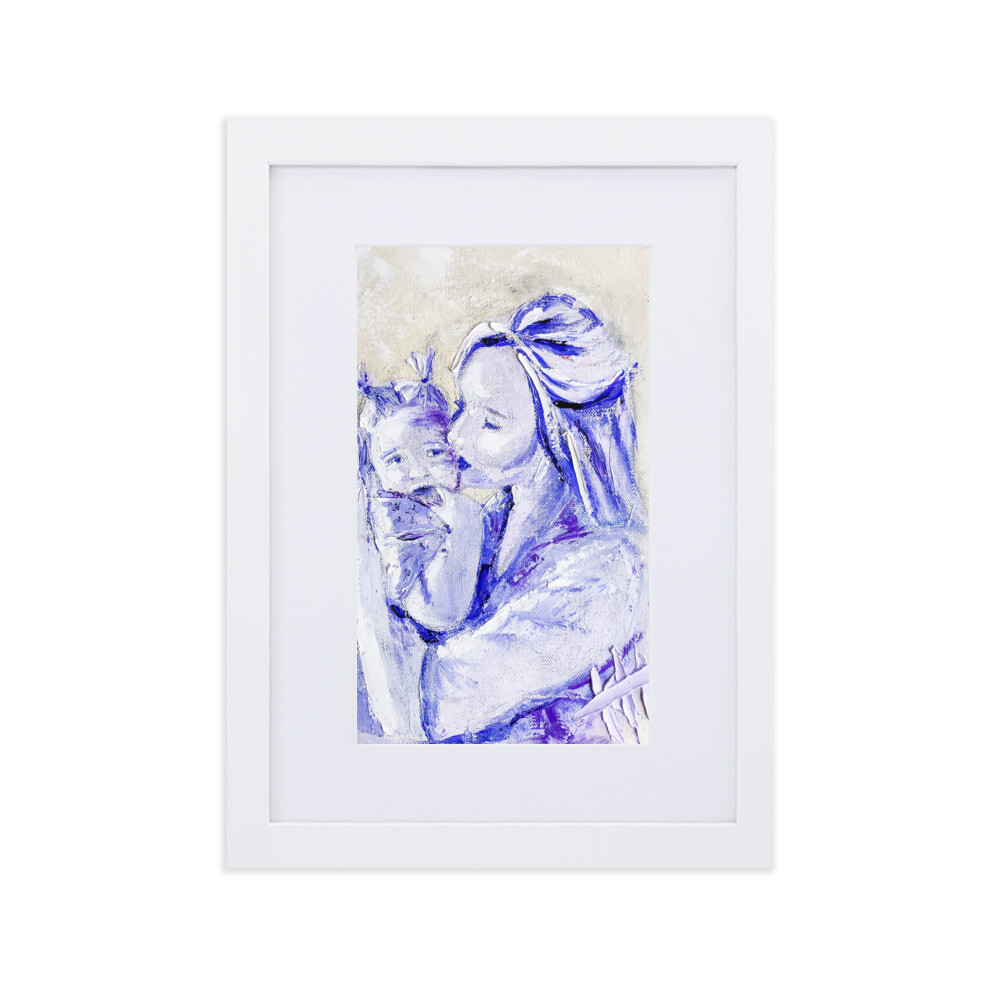 """""""Unconditional"""" Matte Paper Framed Poster With Mat"""
