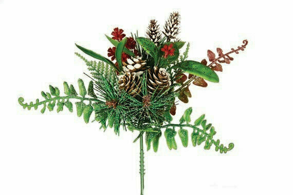 XP5537 - Large mIX pick with assorted pine cones and ferns