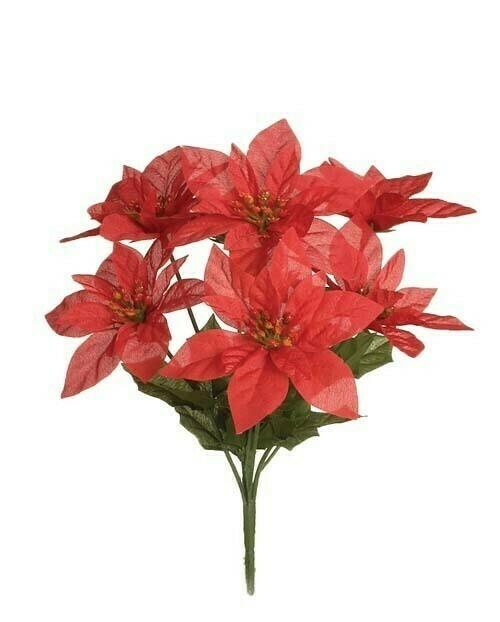 SBX04100RED - Poinsettia bush x7