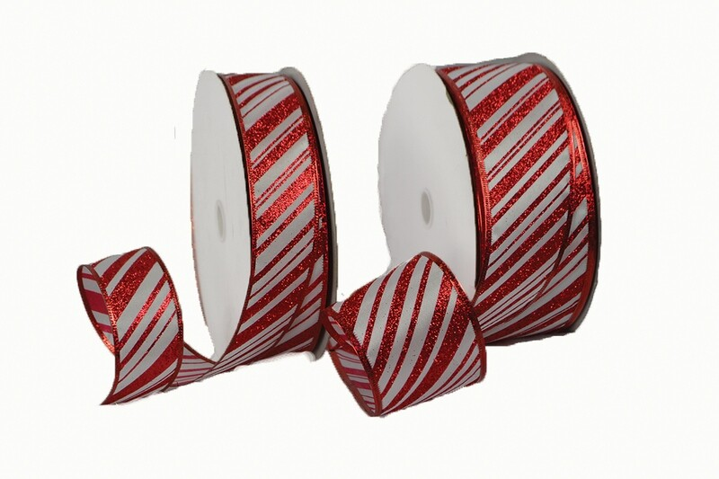 ​CND40RD - #40 wired red/white striped