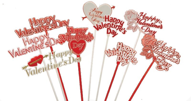 4007 -  Assorted Valentine pick siper pack (DZ) $4.95 dz Case Pk: 24 DZ Min: 6 DZ