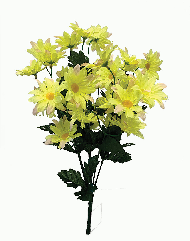 "SB1098YL - 16"" Yellow Mini Daisy bush x 7 $3.25 ea Case Pk: 12"