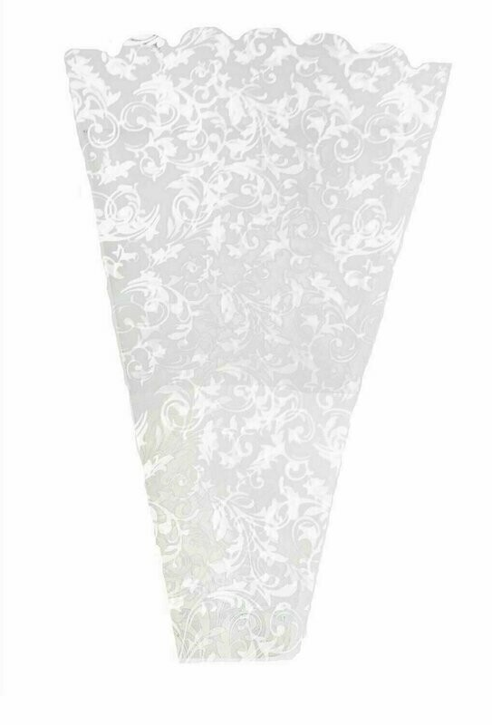 FS5010WHT - Poly Floral Sleeve With White Pattern 19