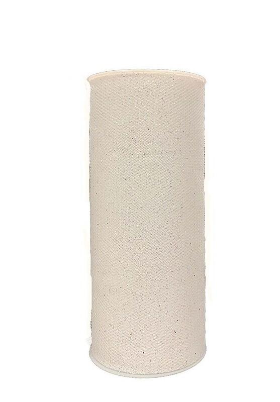 1370WHT - White Sparkle Tulle 6x25 yds $6.75 each Minimum: 1 pc minimum 1 pc Case Pack:12