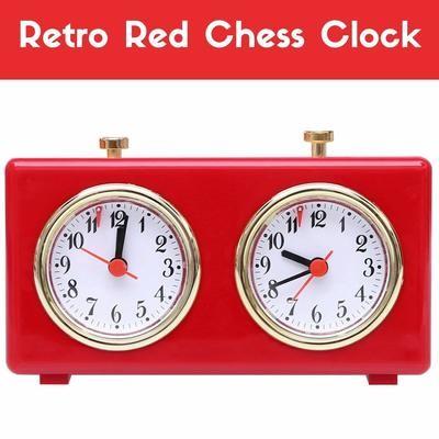 Retro Analog Chess Clock Timer - Wind-Up Mechanical Chess Clock No