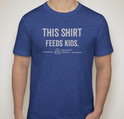This Shirt Feeds Kids (Heather Blue)