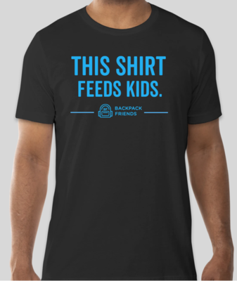 Classic 'This Shirt Feeds Kids' (Black/ Turquoise)