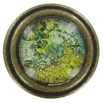Brass Knob with Map