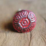 Antique Brass Round Red