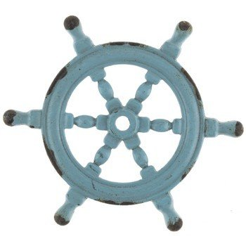 Blue ship wheel