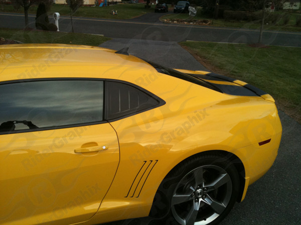 2010 - 2015 Camaro Side Quarter Window Louver Graphics