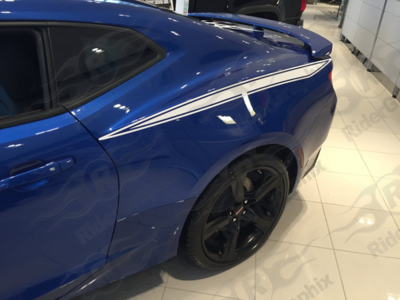 2016 - up Camaro Rear Quarter Panel Stinger Style Stripes