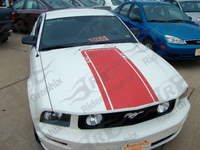 2005 - 2014 Mustang Mach 1 Style Hood Stripe