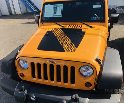 2007 - 2018 Jeep Wrangler JK Hood Blackout Graphics