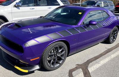 2008 - Up Dodge Challenger 3/4 Length Strobe Stripe Graphics Kit